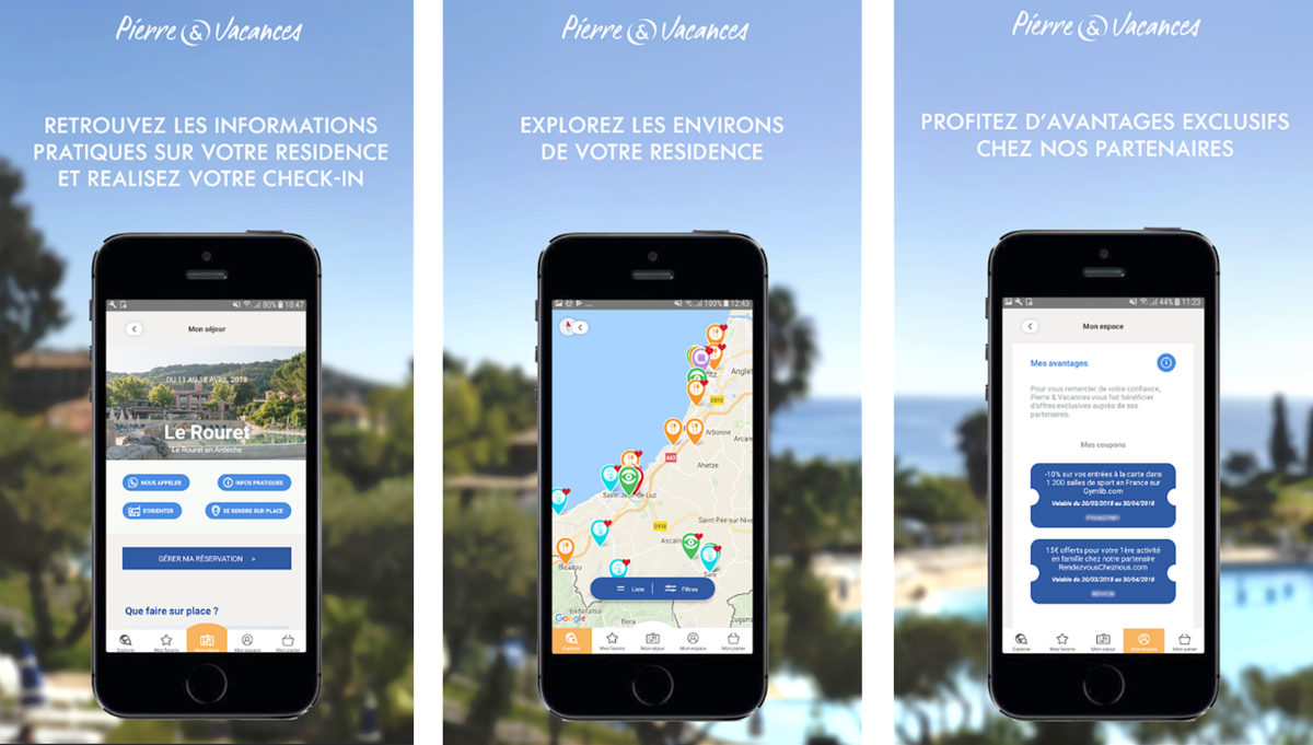 Application Planet Pierre et Vacances