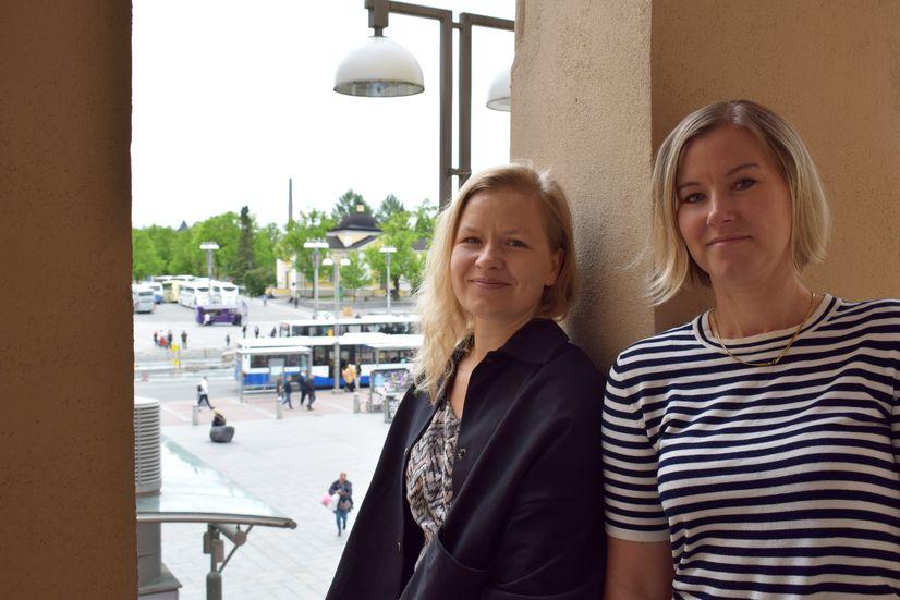 Frei Zimmer Oy:n koordinaattorit Heini Orell ja Laura Lehtinen