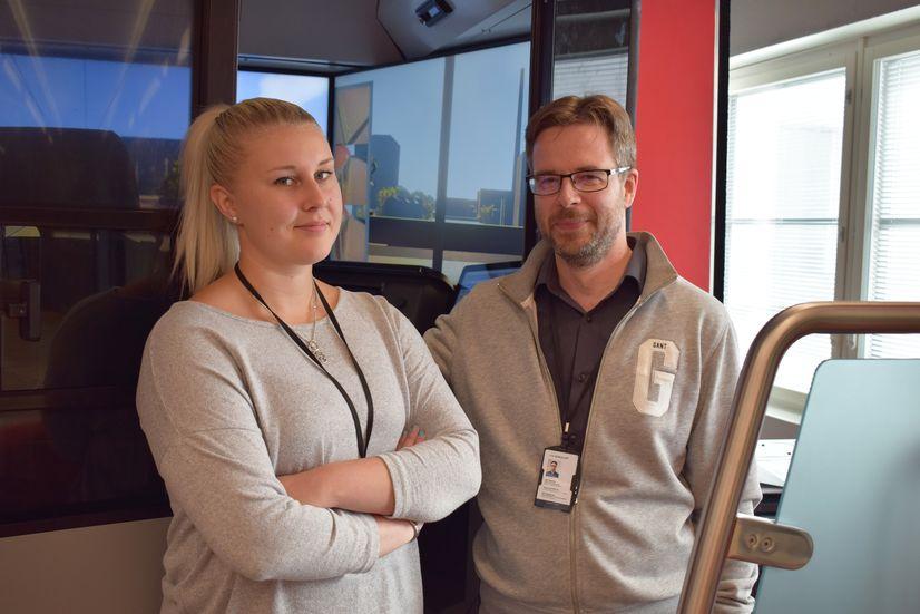 Doris Diehl ja Jari Hietikko ovat Tampereen Ratikan tulevia liikenteenohjaajia