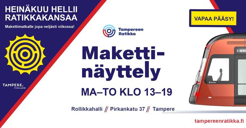 Tampereen Ratikan Maketti-näyttely