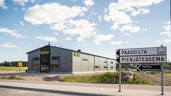 Valaisinvalmistaja Karlux Oy:n uudet toimitilat Paassilana alueella.