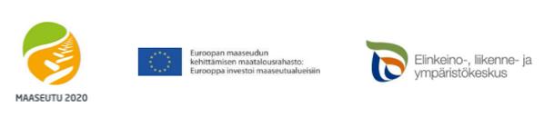 Maaseturahaston ja Elyn logot sekä Eu-lippu