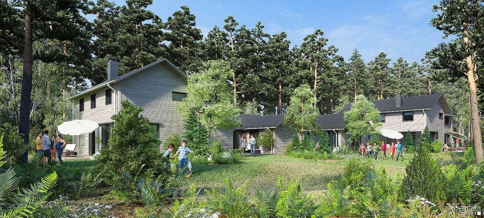 Ein erster Eindruck der neuen Ferienhäuser in Park Allgäu