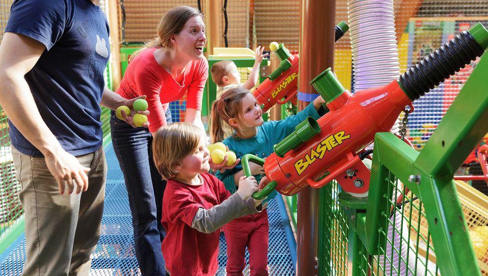Bällekanonen sorgen für mächtig viel Spaß in der BALUBA.