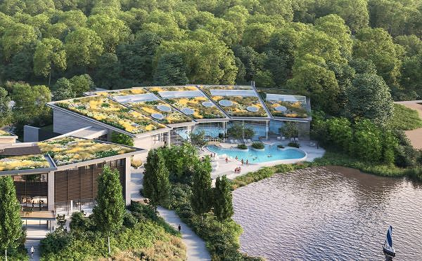 Das tropische Schwimmbad Aqua Garden im Terhills Resort