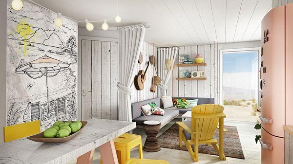 Beach Chilla Park Zandvoort Wohnzimmer