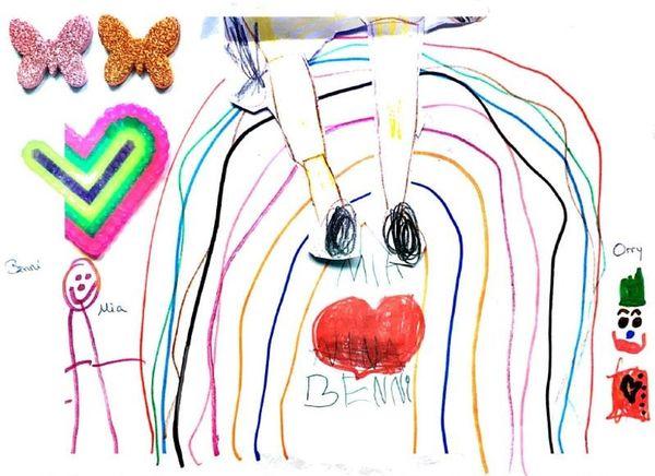 Das Bild, das Mia für Orry gemalt hat