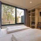 Schlafzimmer im Premium-Ferienhaus