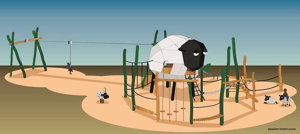 Der Heidschnucken-Themenspielplatz in Bispinger Heide