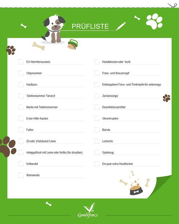 Prüfliste für den Urlaub mit Hund