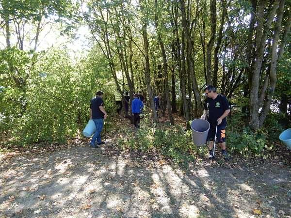 Die Grünanlagen in und um die Parks werden akribisch durchkämmt.