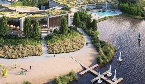 Drohnenflug durch das neue Terhills Resort