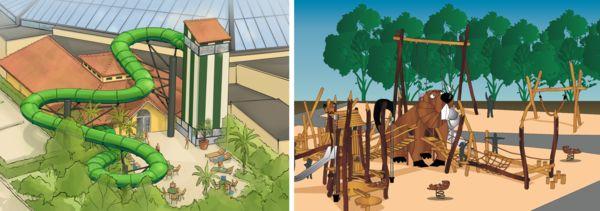 Artist impressions - Duo Racer & Spielplatz draußen