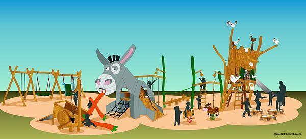 Tierisch: der Entwurf für den neuen thematisierten Spielplatz