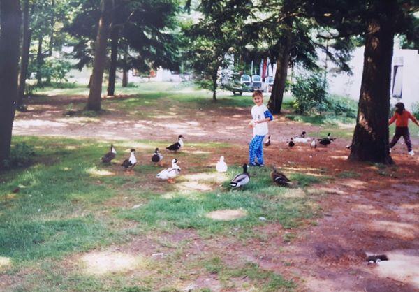Entenfüttern bei Center Parcs in den 1990er-Jahren