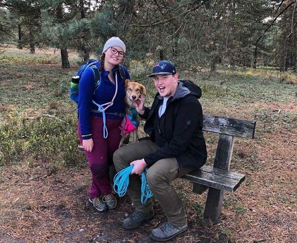 Ann-Christin, Robin und Hund Nala
