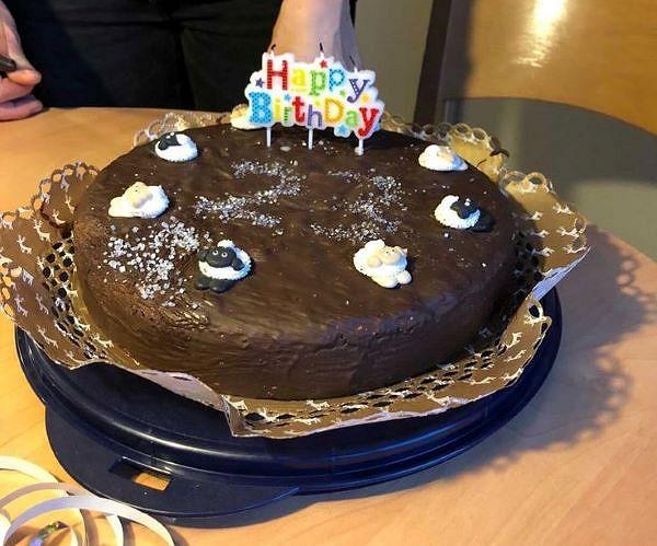Ann-Christins Geburtstagstorte mit süßen Heidschnucken