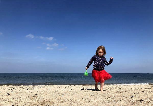 Für Luisa war der Strandurlaub in Holland ein tolles Erlebnis