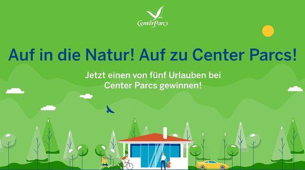 Gewinnspiel: Auf in die Natur - auf zu Center Parcs!