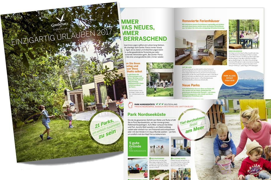 Jetzt den neuen Center Parcs-Katalog 2017 entdecken!