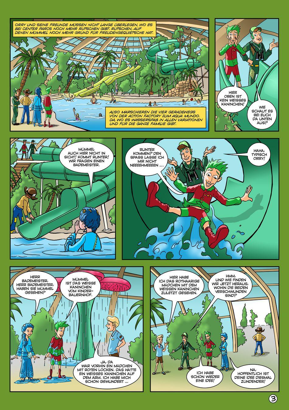 Dritter Teil des Orry-Comics von Center Parcs