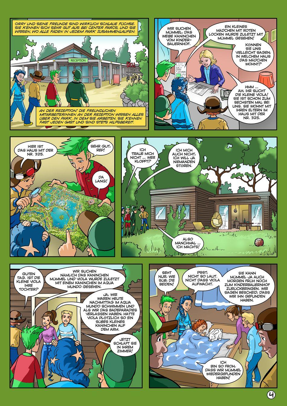 Letzter Teil des spannenden Orry-Comics von Center Parcs