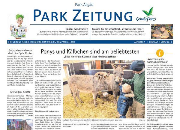 Die Ausgabe Februar 2019 mit dem Aufmacher über den Kinderbauernhof.