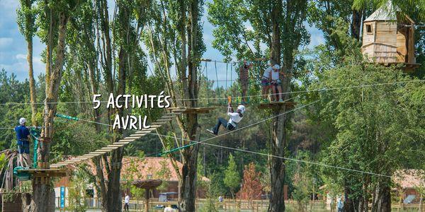 Top 5 des activités d'avril à Center Parcs !
