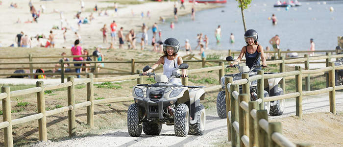 balade en quad center parcs