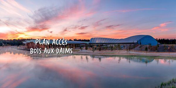 Plan et accès au Domaine Le Bois aux Daims