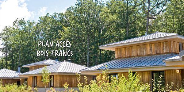 Plan et accès à Center Parcs Les Bois Francs