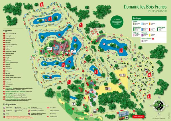 bois francs plan center parcs
