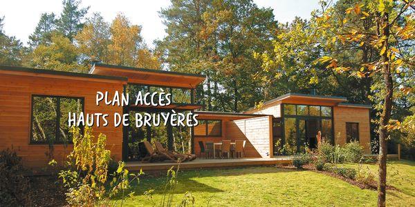 Plan et accès au Domaine Les Hauts de Bruyères