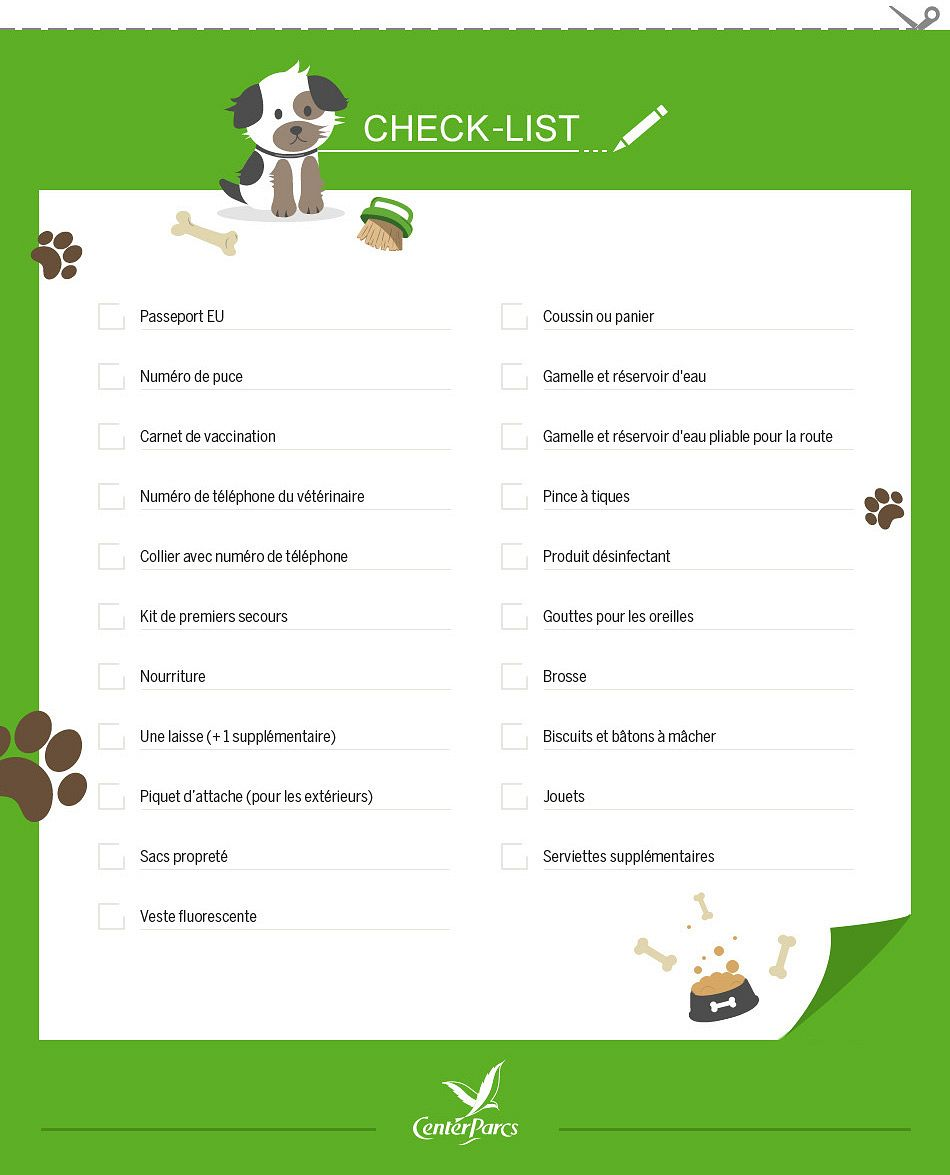 check-list-chiens-a-center-parcs