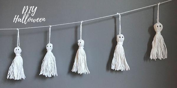 DIY spécial Halloween : Guirlande de fantômes