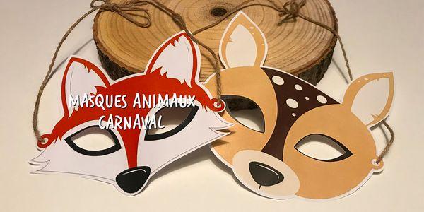 Masques de Carnaval Animaux