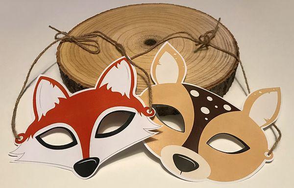 Masque carnaval biche renard