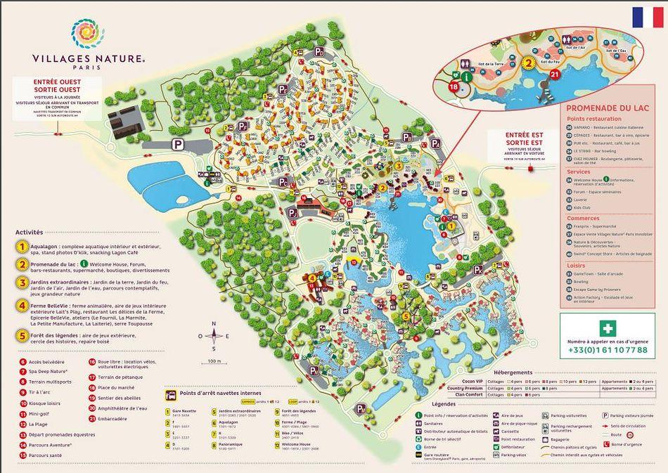 plan parc Villages Nature
