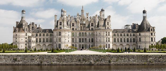 Chateau de Chambord vue de face