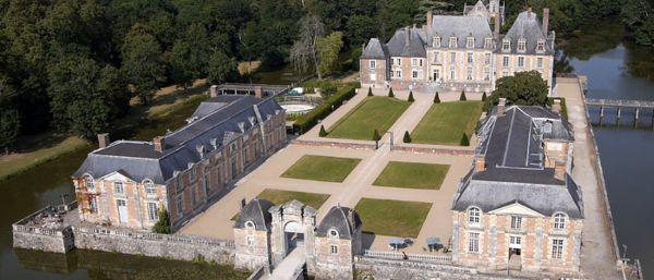 Château la Ferté-Saint-Aubin vue du ciel