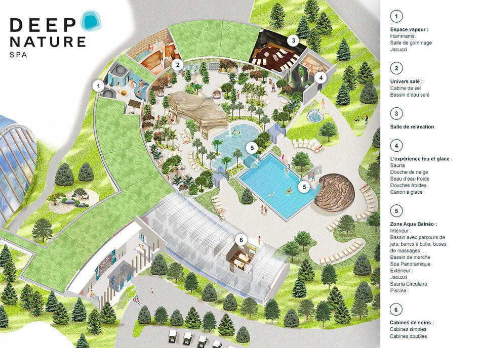plan nouveau spa trois forets