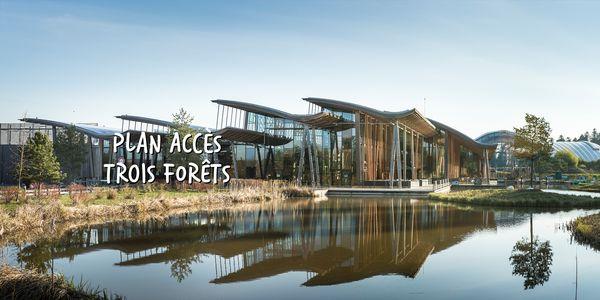 Plan et accès au Domaine Les Trois Forêts