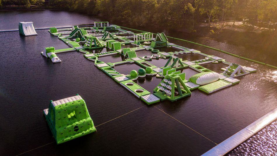 Drone view of the Aquapark in De Vossemeren