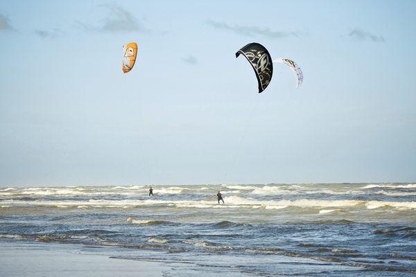 Kitesurfing à Port Zélande