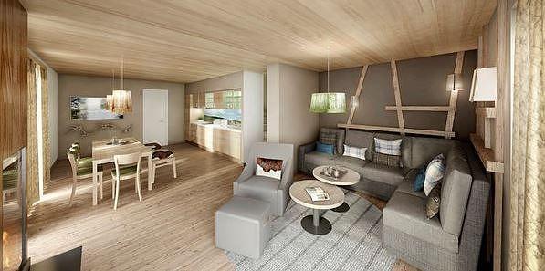 De inrichting van de Premium cottage