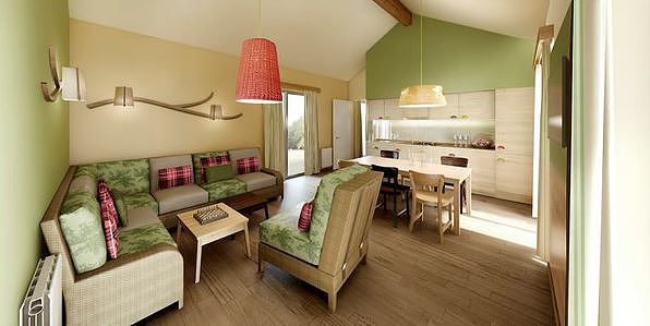 De inrichting van de Comfort cottage