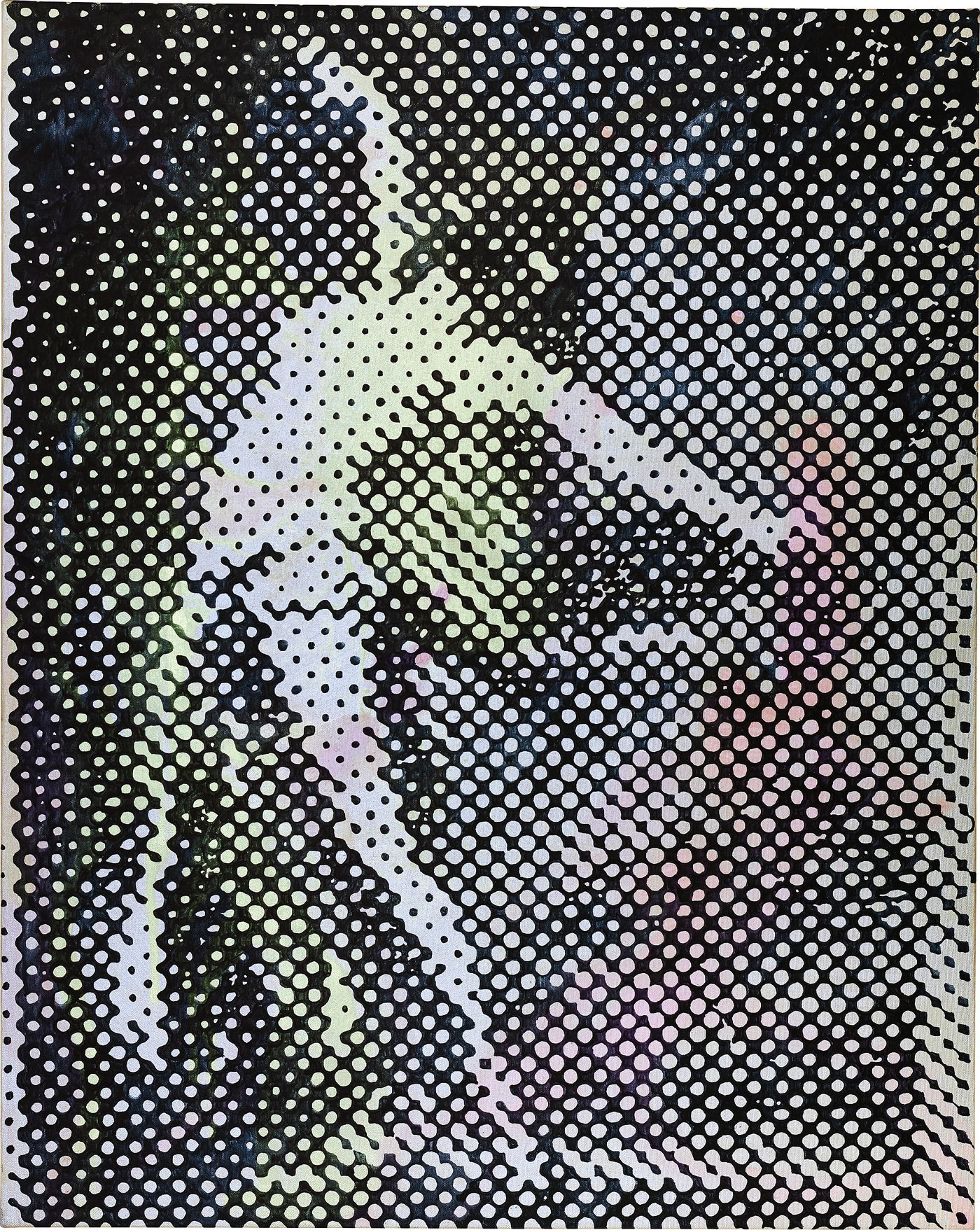 Exquisitely enchanting and visually arresting, Polke's 'Tänzerin' from 1994 offers a glimpse at the evolution of the artist's signature technique.