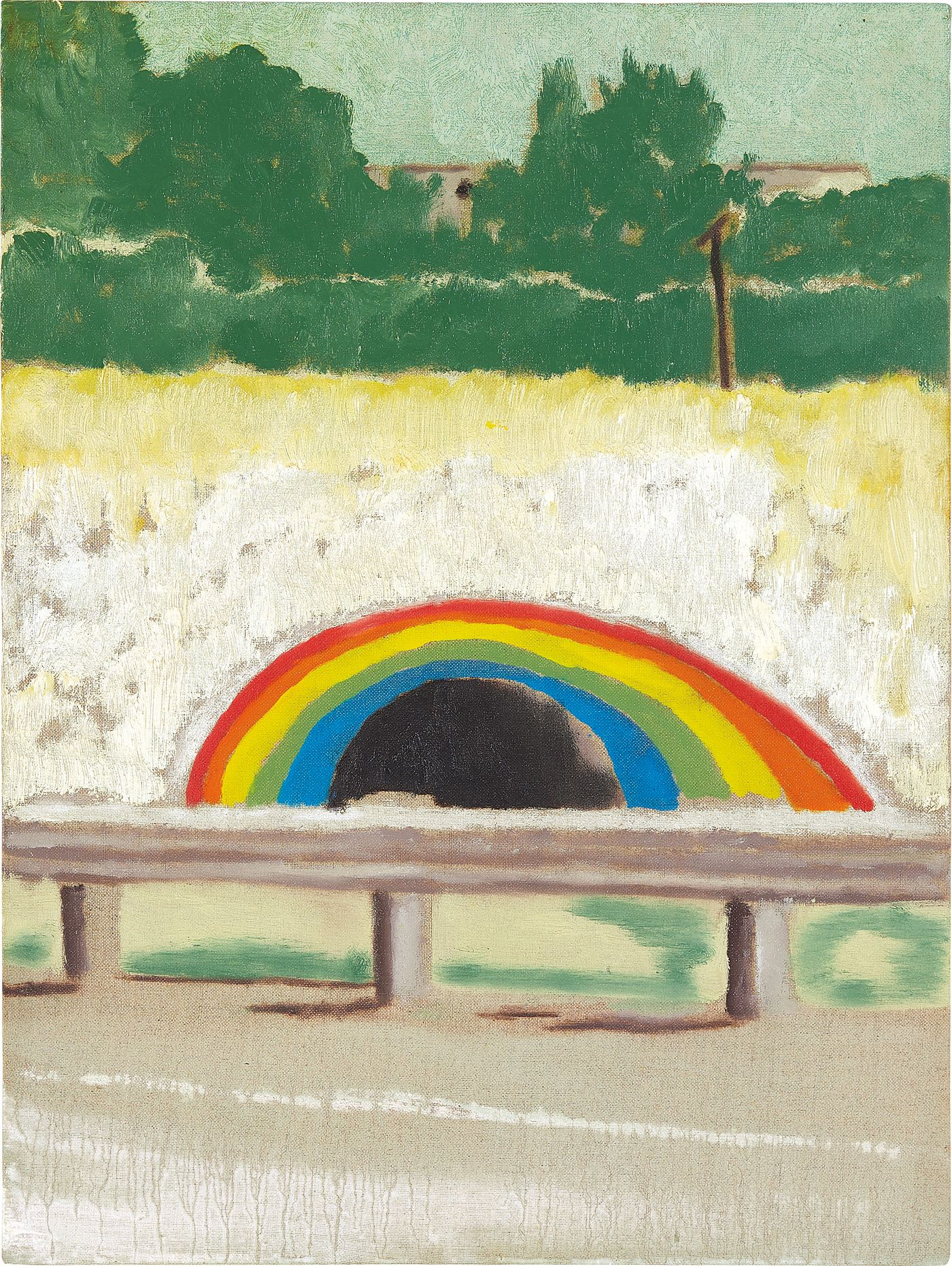The mastery of Doig's painterly technique carries the quality of memory itself, as demonstrated by one of the artist's three canvases of the now-famous Don Valley Parkway tunnel in Toronto.