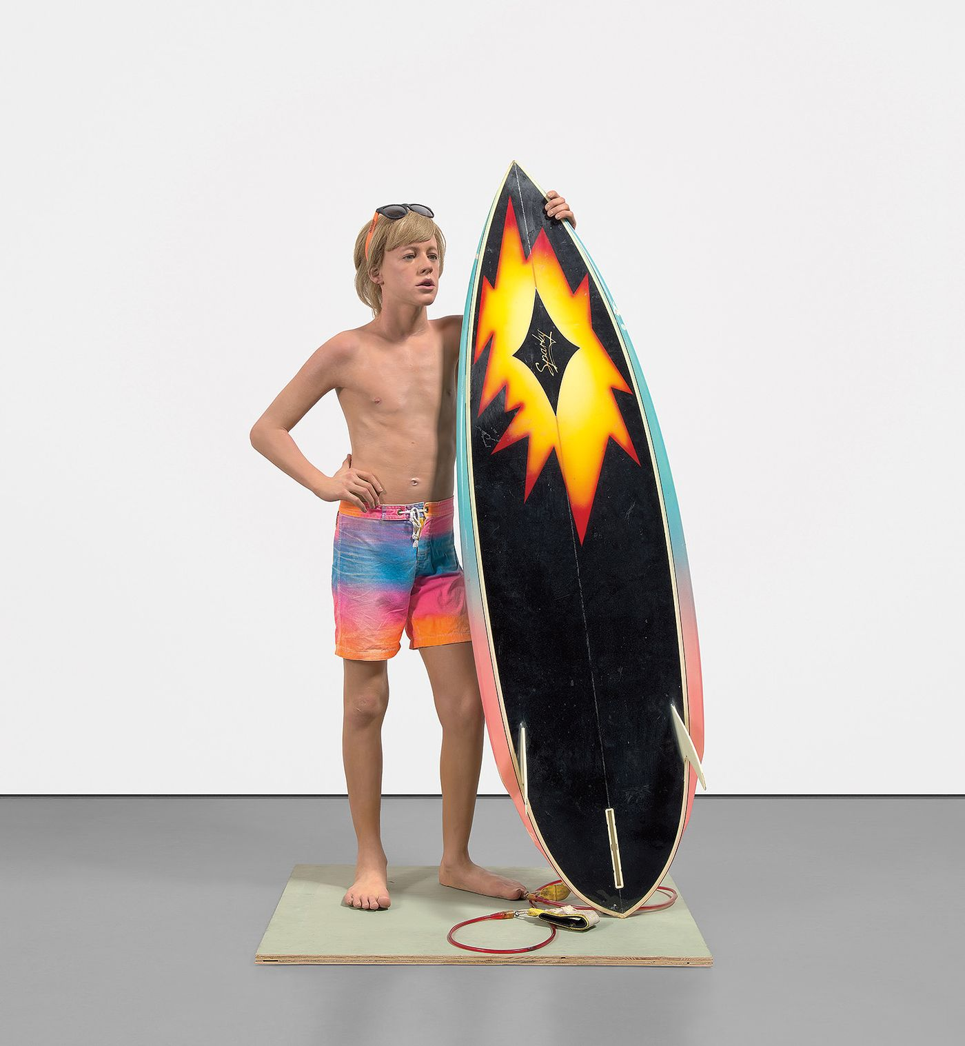 Emblematic of the artist's oeuvre in the 1980s, 'Surfer' uses California cool to examine the deeper anxiety embedded in American life.