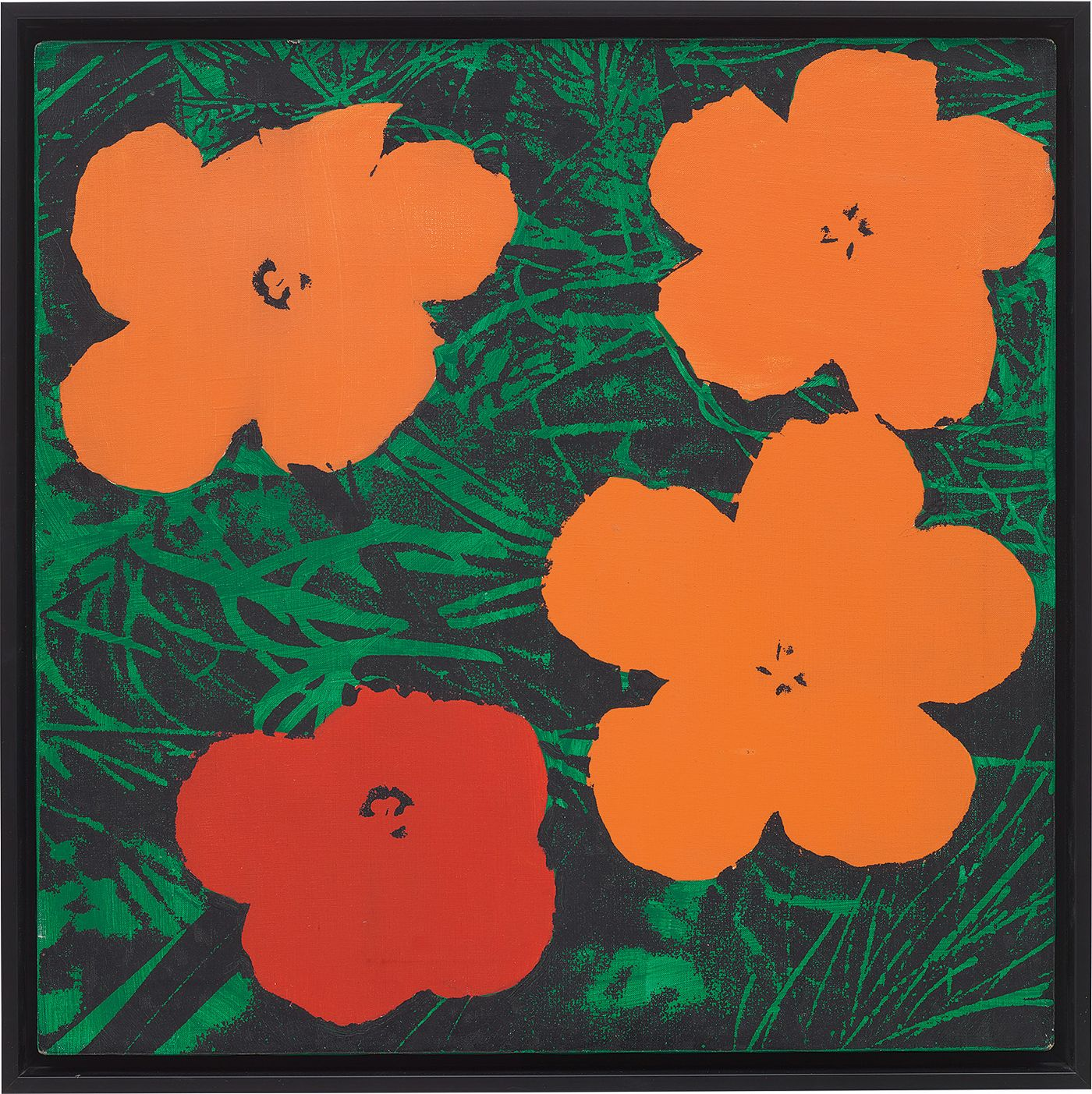 Executed at the inception of Sturtevant's conceptual practice, two exceptional examples of 'Warhol Flowers' are much more than mere copies.